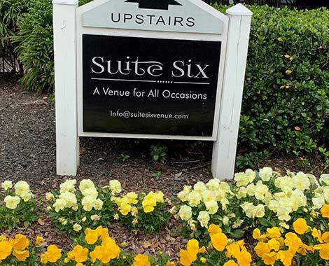 suite six venue sign