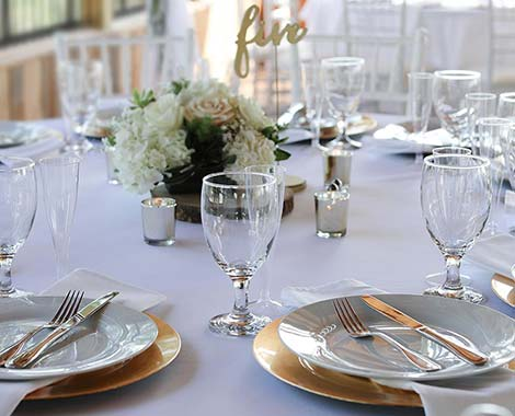 dining table for event